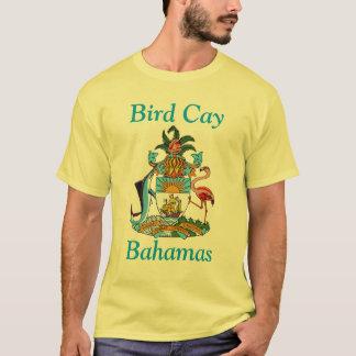 Cay do pássaro, Bahamas com brasão Tshirts