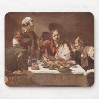 Ceia de Caravaggio- em Emmaus Mousepad