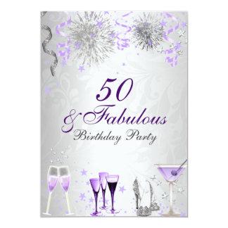Celebração 50 & convite fabuloso do aniversário