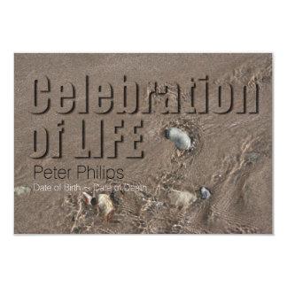 Celebração da areia 1 da cerimonia comemorativa da convite 8.89 x 12.7cm