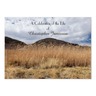 Celebração da grão do convite da vida na brisa convite 12.7 x 17.78cm