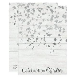Celebração da prata viva do Vip do convite