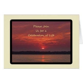 Celebração de convites da vida cartão de nota