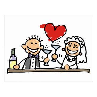Celebração do casamento cartão postal
