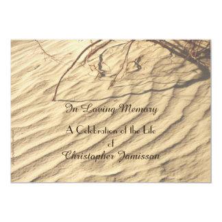 Celebração do convite da vida, areias do deserto convite 12.7 x 17.78cm