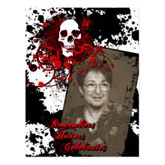 celebração do memorial de diâmetro de los muertos cartão postal