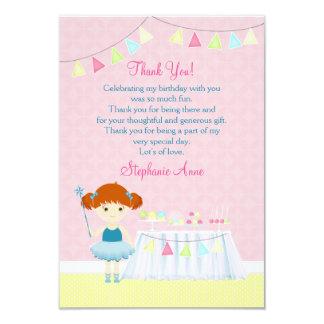 Celebração doce do cupcake da bailarina convite 8.89 x 12.7cm
