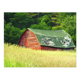 Celeiro no Adirondacks, N.Y. do vintage Cartão Postal