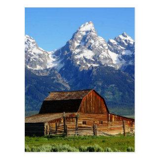 Celeiros da fileira do Mormon, cartão da paisagem