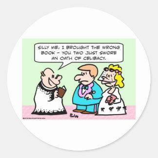 celibato do juramento do casamento adesivo