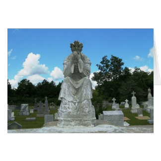 Cemitério católico cartão de nota