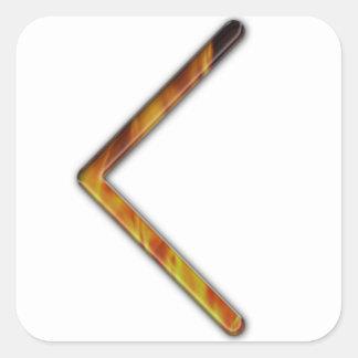 CEN mais velho do Rune de Futhark Adesivo Quadrado