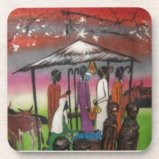 Cena africana da natividade do Natal Porta-copo