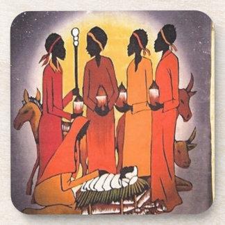 Cena africana da natividade do Natal Porta-copos