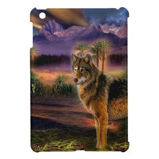 Cena animal abstrata do lobo