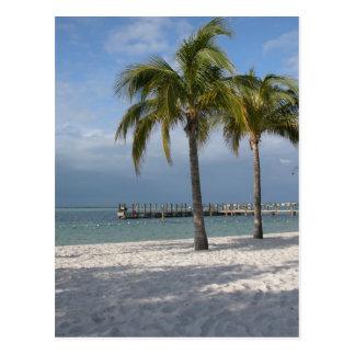 Cena chave da praia de Florida do Largo Cartão Postal