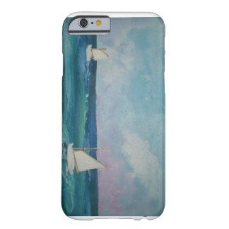 Cena da água com barcos capa barely there para iPhone 6
