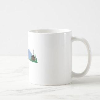 Cena da cabine caneca de café