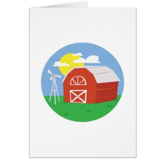 Cena da fazenda cartão comemorativo