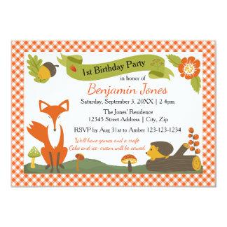 Cena da floresta - convite de aniversário