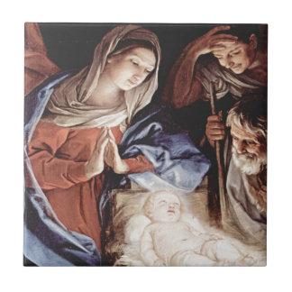 Cena da natividade azulejo