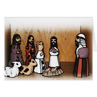 Cena da natividade cartão