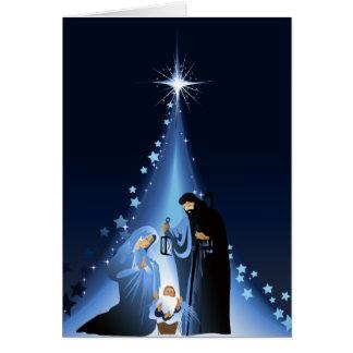 Cena da natividade cartão comemorativo