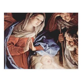 Cena da natividade cartão postal