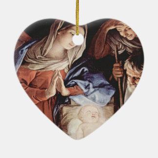 Cena da natividade enfeite de natal