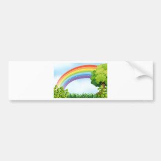 Cena da natureza com arco-íris adesivo para carro