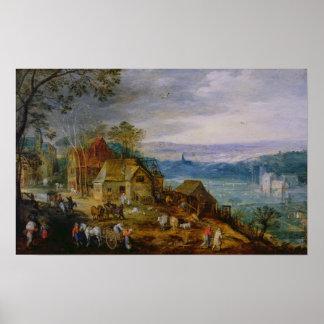 Cena da paisagem poster
