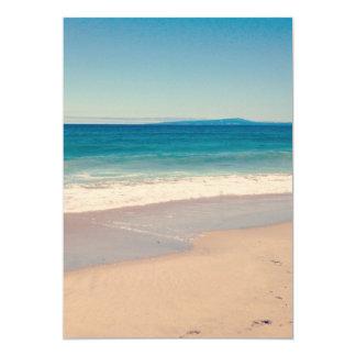 Cena da praia do Aqua Convite 12.7 X 17.78cm