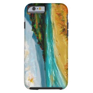 cena da praia do caso do iPhone 6 Capa Tough Para iPhone 6