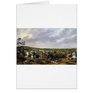 Cena de batalha em uma paisagem aberta cartão comemorativo