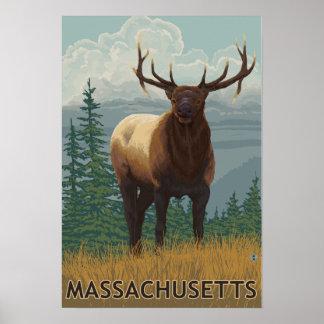 Cena de MassachusettsElk Impressão