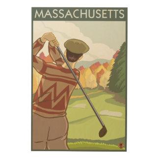 Cena de MassachusettsGolfing Canvas De Madeira