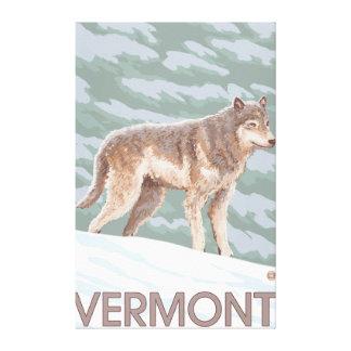 Cena de VermontWolf Impressão De Canvas Envolvidas