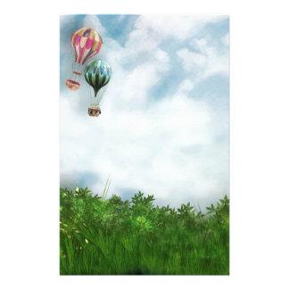 Cena do balão de ar quente papelaria