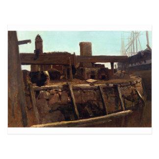 Cena do cais por Albert Bierstadt Cartão Postal