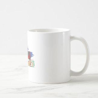 Cena do celeiro caneca de café