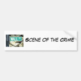 Cena do crime adesivo para carro