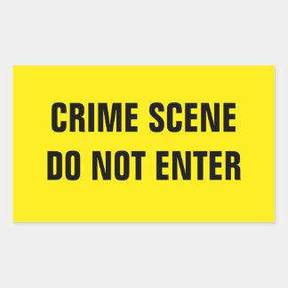 Cena do crime adesivo retangular