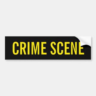 CENA DO CRIME - emblema amarelo dourado do logotip Adesivo