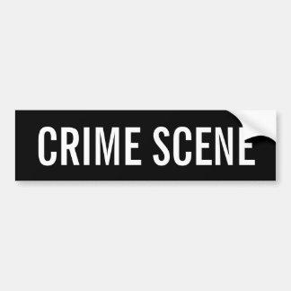 CENA DO CRIME - emblema branco do logotipo Adesivos
