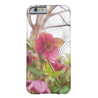 Cena do jardim - Hellebores e carvalho velho Capa Barely There Para iPhone 6