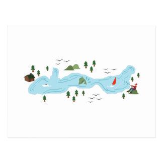 Cena do lago cartão postal