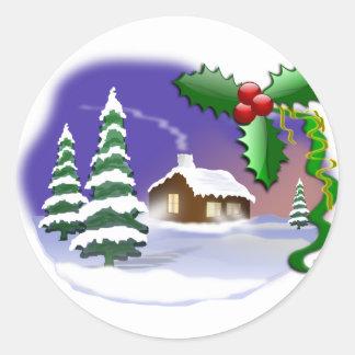 Cena do Natal Adesivo