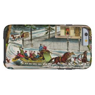 Cena do Natal dos dias de inverno Capa Tough Para iPhone 6