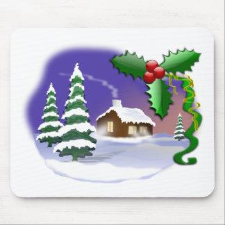 Cena do Natal Mouse Pads