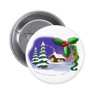 Cena do Natal Pins